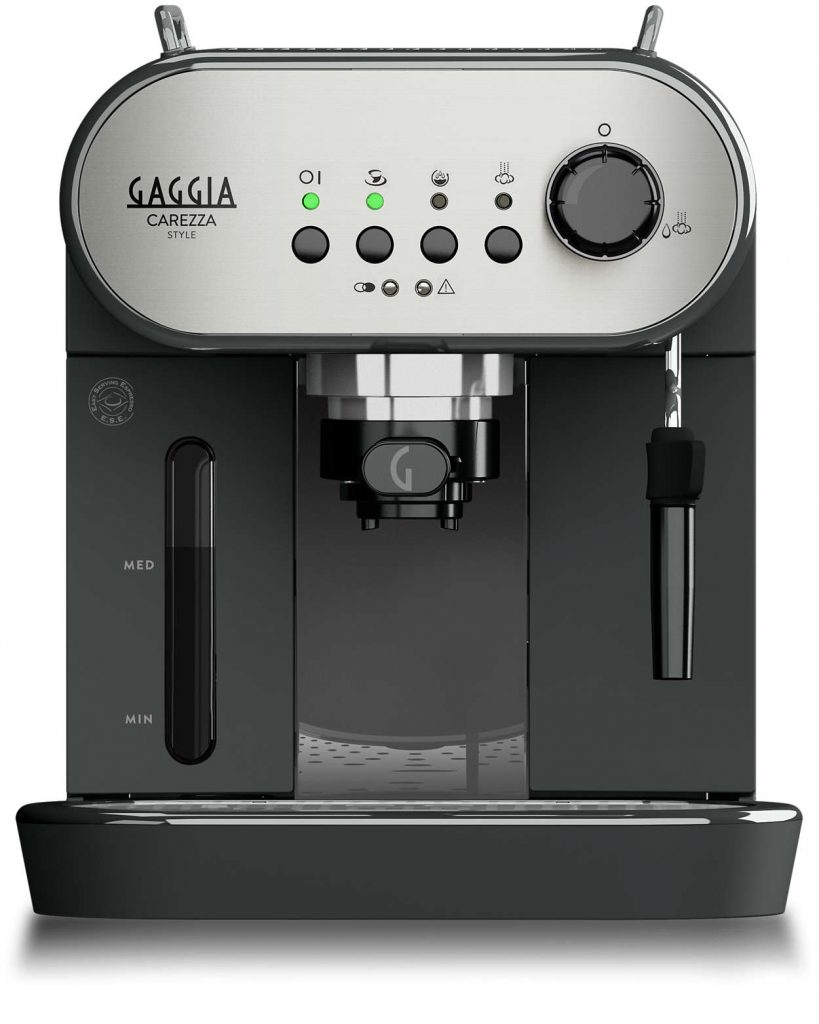 Gaggia Carezza Style | Espresso Coffee Machine - Silver and Black-0
