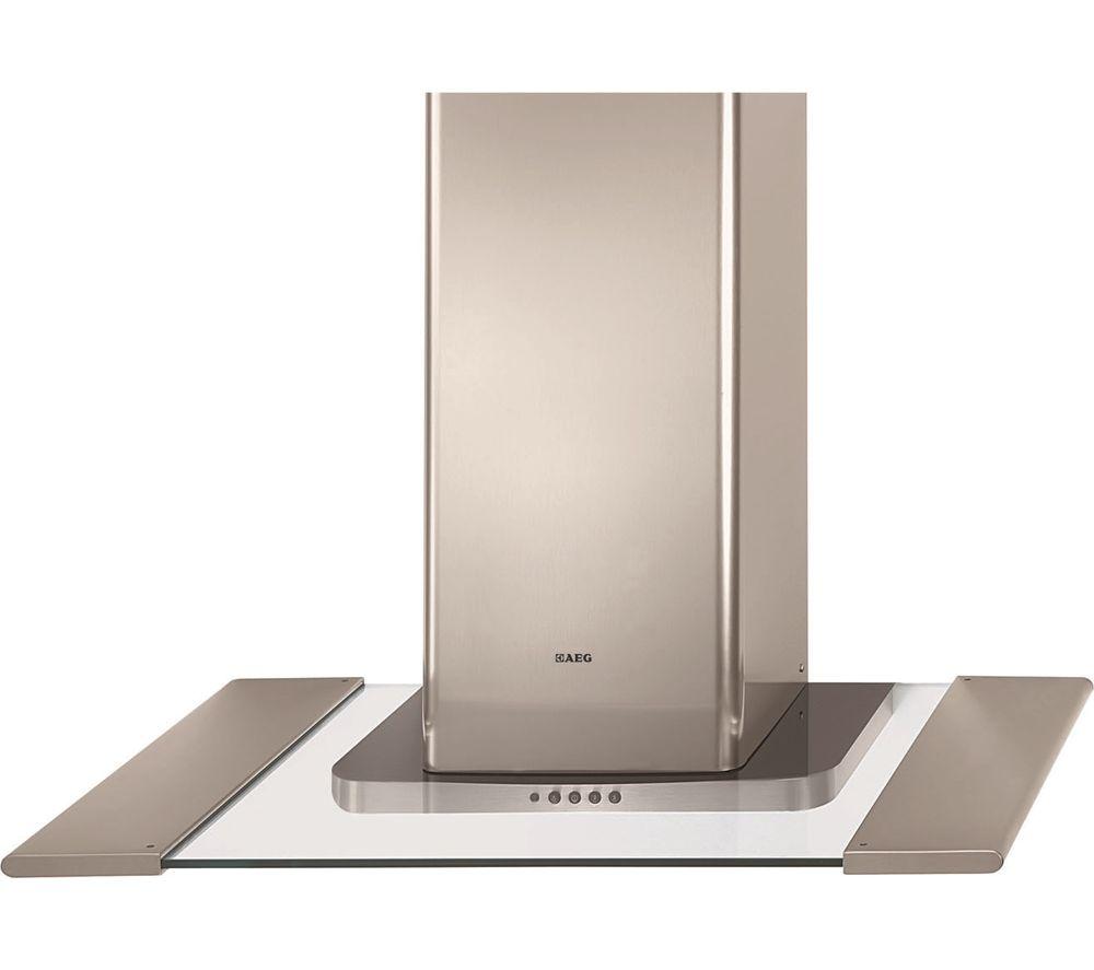 AEG HD6470-M | 60 - 80cm Flat Glass Designer Cooker Hood - Stainless Steel-0