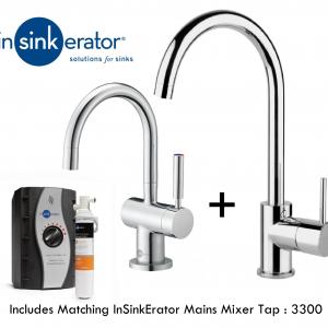 InSinkErator HC3300C & 3300 Mains Mixer Tap Pack | Matching Taps - Chrome-0