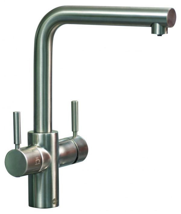InSinkErator 3N1BR | Instant Hot mains water tap Complete Kit - Brushed Steel-2160