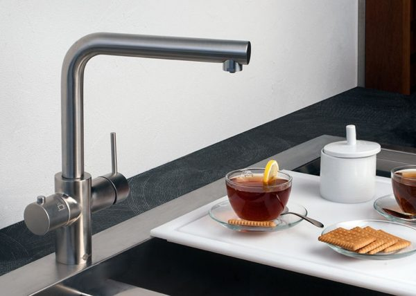 InSinkErator 3N1BR | Instant Hot mains water tap Complete Kit - Brushed Steel-2159