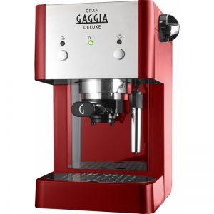 Gaggia Gran Deluxe   Espresso Coffee Machine Red-0