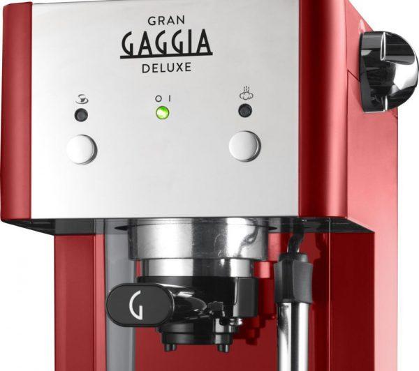 Gaggia Gran Deluxe   Espresso Coffee Machine Red-2642