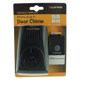 Lloytron B7510BK | Portable, Wireless, Mains plug in Door Chime / Bell -0