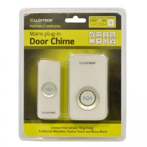 Lloytron B7505WH | Mains plug in door chime / Bell -0