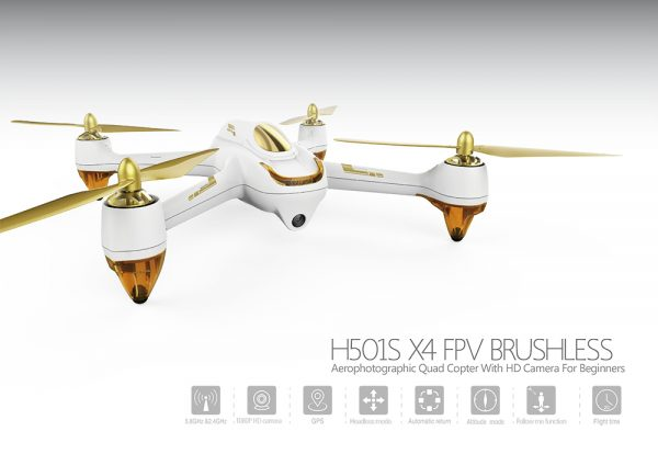 Hubsan H501S | Brushless Quadcopter RC Drone, 1080P HD Camera, GPS - White-0