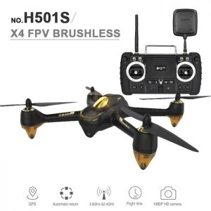 Hubsan H501S | Brushless Quadcopter RC Drone, 1080P HD Camera, GPS - Black -0