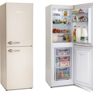 Montpellier MAB148C | 148cm Retro Style Fridge Freezer | Cream-0