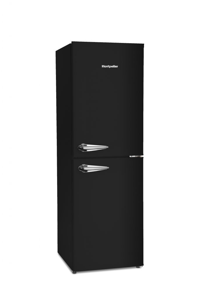 Montpellier MAB148K | 148cm Retro Style Fridge Freezer | Black-0