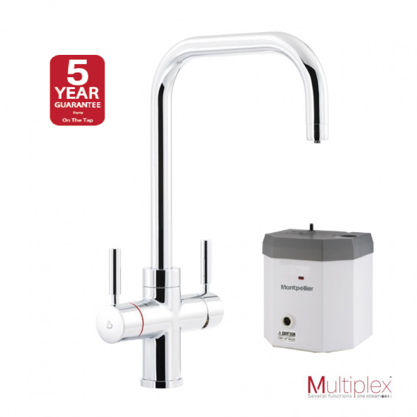 Montpellier Multiplex 3in1QC | Quad Spout Mains Hot, Cold & Boiling Water Tap - Chrome-3869