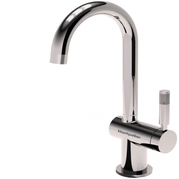 Montpellier OneStream | Single Lever Steaming Hot Water Tap - Brushed Steel-3988
