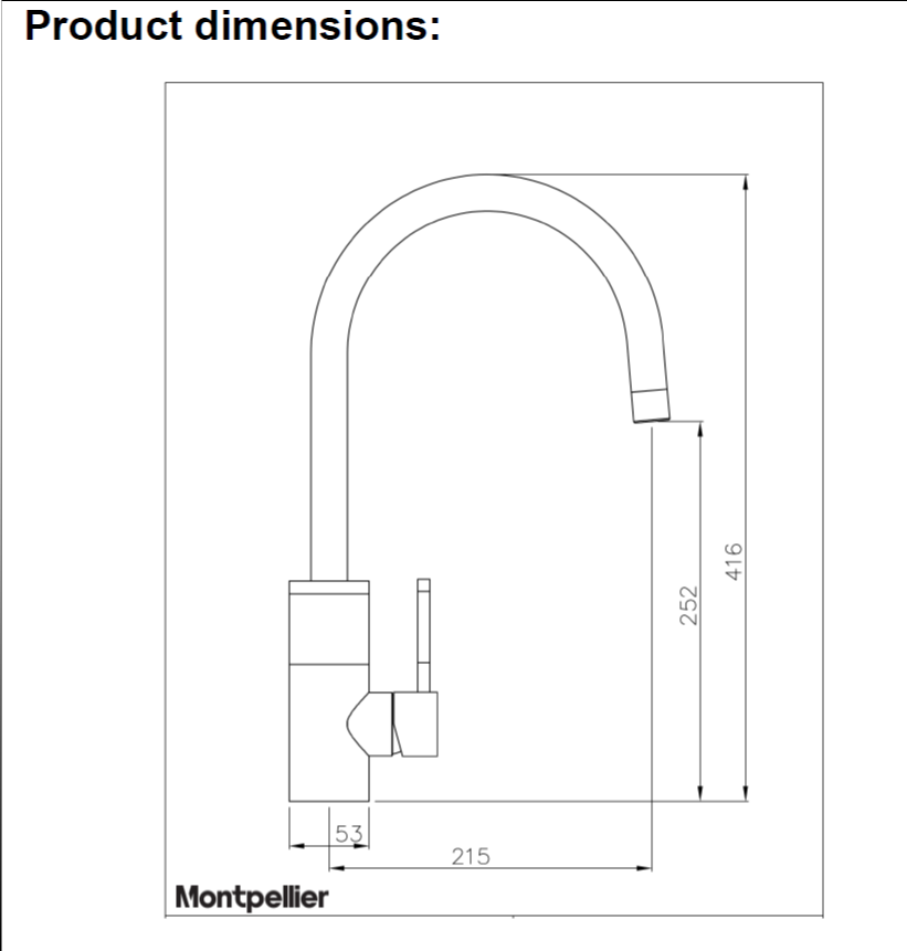 Montpellier OneStream | Single Lever Steaming Hot Water Tap - Brushed Steel-3990