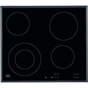 AEG HK624010FB   59cm 4 Zone Touch Control Ceramic Electric Hob - Black -0