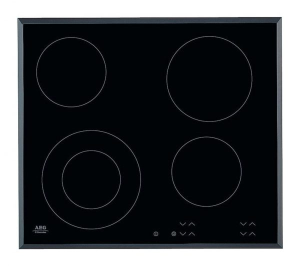 AEG HK624010FB | 59cm 4 Zone Touch Control Ceramic Electric Hob - Black -0