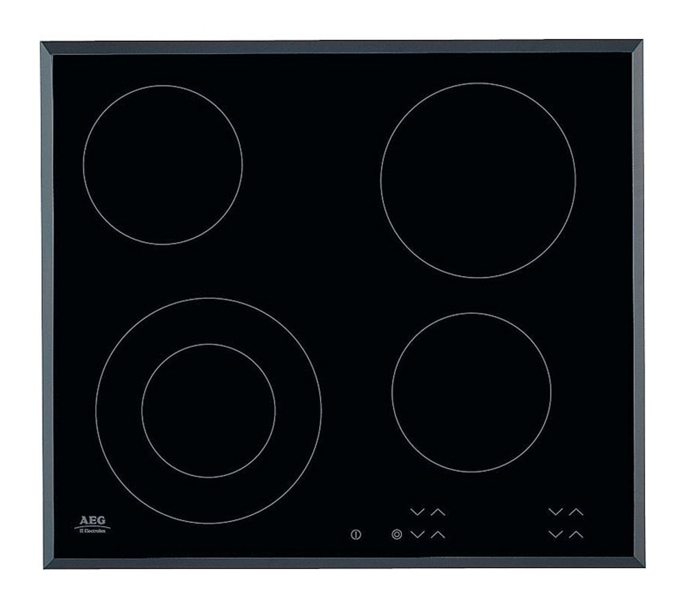 AEG HK624010FB | 59cm 4 Zone Touch Control Ceramic Electric Hob - Black -0