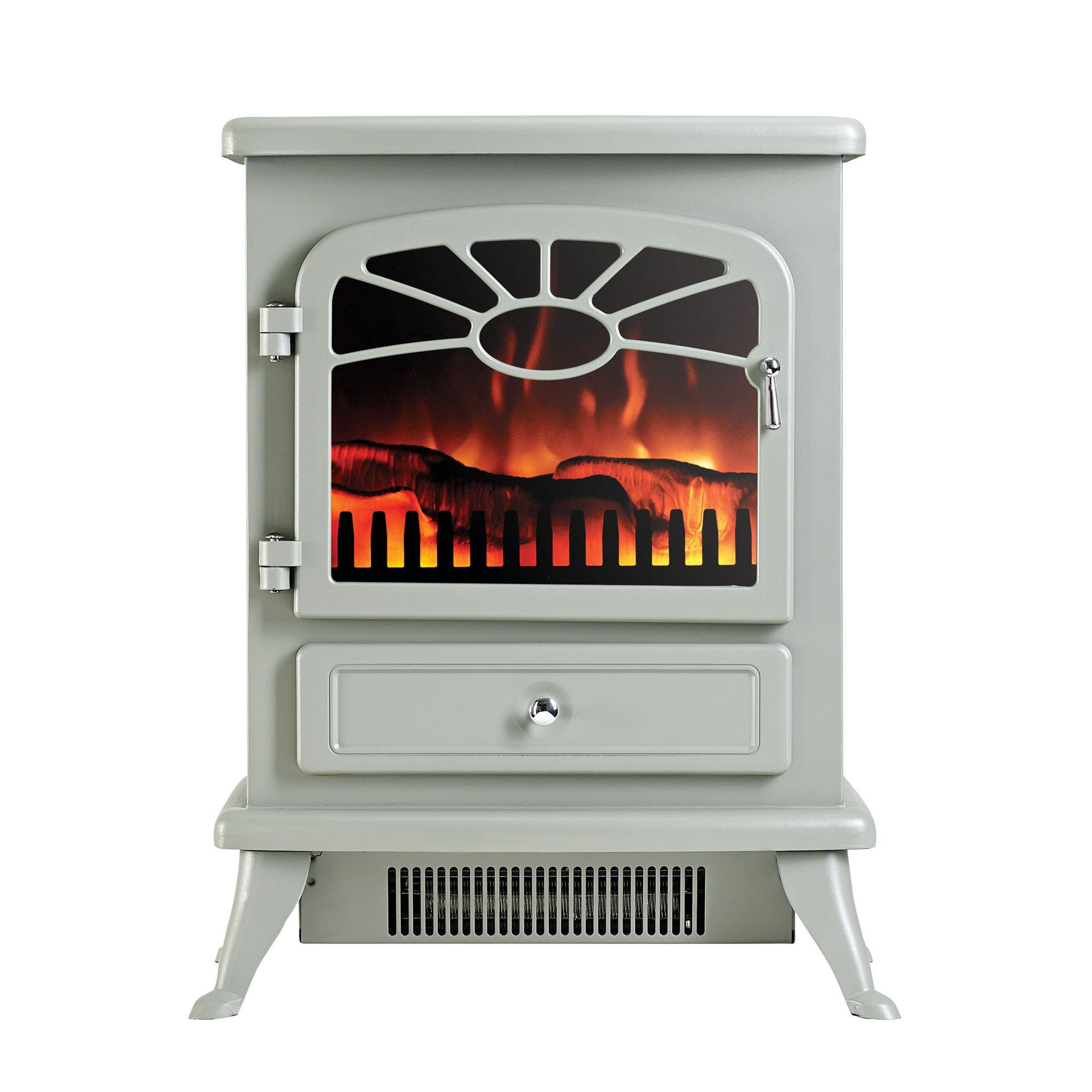 Focal Point Electric Fire: Focal Point ES2000 Grey & Matt Electric Fire Stove