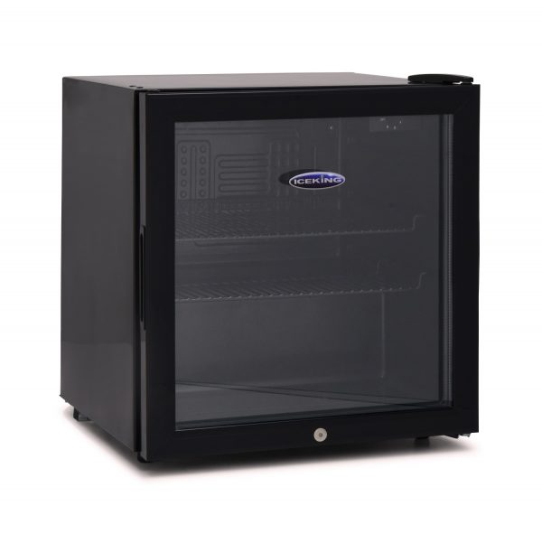 IceKing DF48K 48 Litre Table Top Mini Drinks Fridge Chiller with Glass Door Black