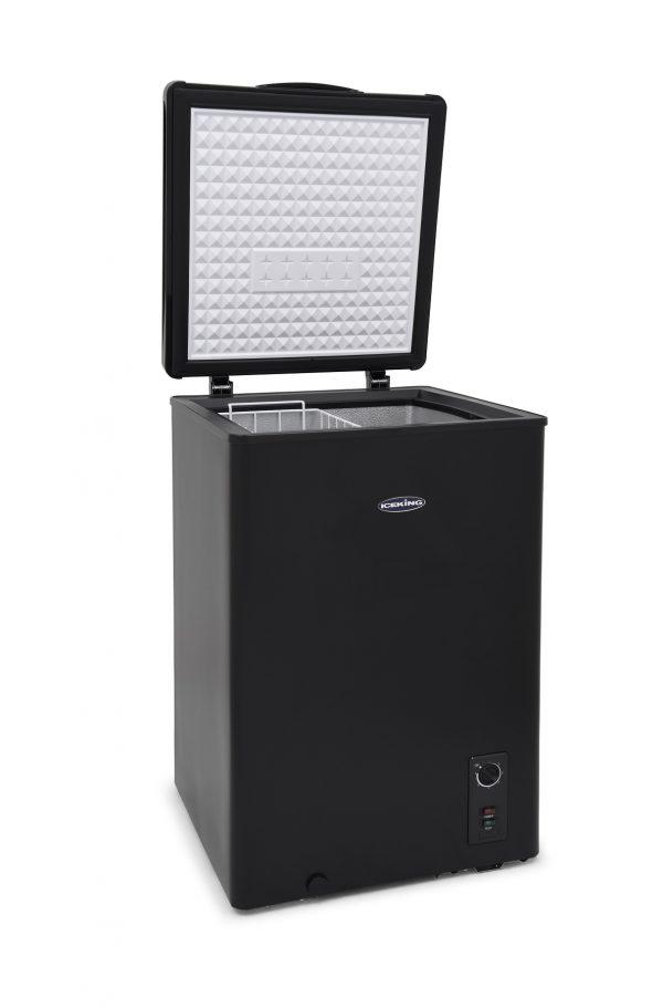 IceKing CF98BK Black Chest Freezer for Outbuildings 98 Litre
