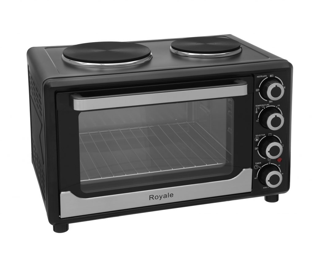 Royale TT30 Mini Electric Table Top Cooker Black
