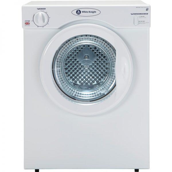 White Knight C37AW Compact 3kg Tumble Dryer White