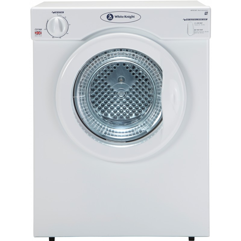 White Knight C37AW Compact 3kg Tumble Dryer White
