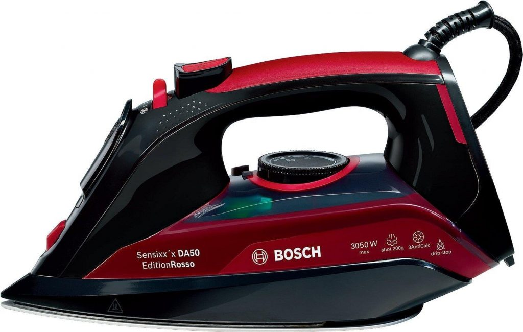 Bosch TDA5070GB Steam Iron, 3050 W - Black/Red [Energy Class A+++]