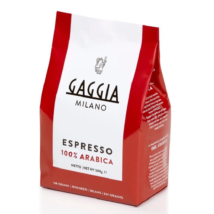 Gaggia 100% Arabica Whole Espresso Italian Roasted Coffee Beans 500g Bag