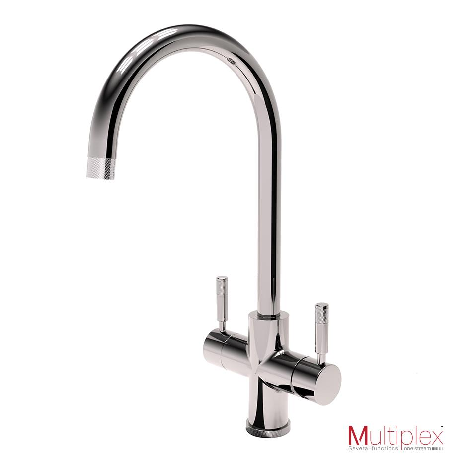 Montpellier Multiplex 3in1SB Swan Spout Tap Instant Hot Boiling & Mains Water Tap, Tank & Filter