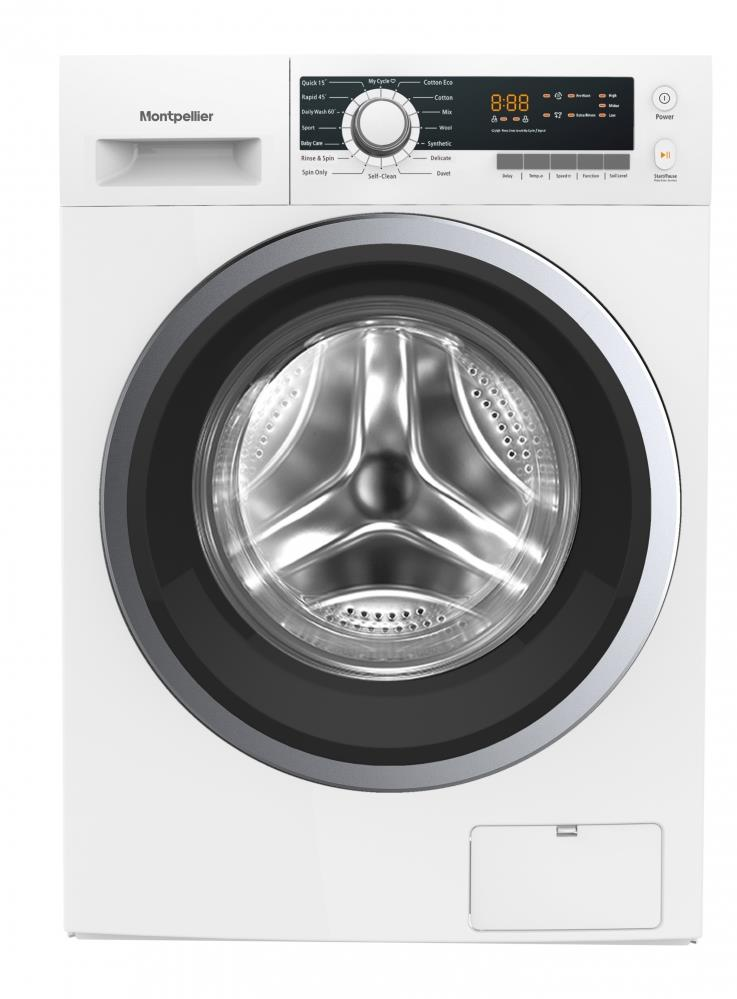 Montpellier MW8140P 8kg Washing Machine in White