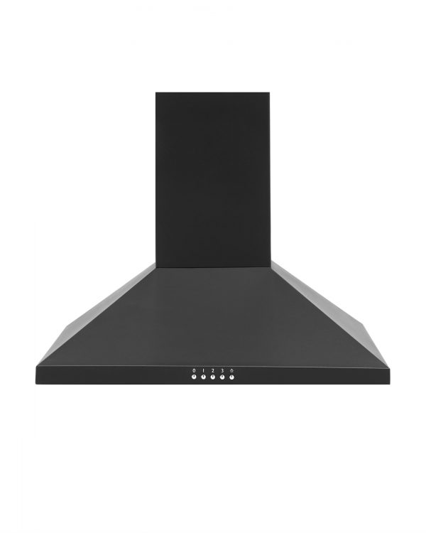 Montpellier MH600BK 60cm Pyramid Chimney Cooker Hood Kitchen Extractor Fan - Black [A+ Rated]
