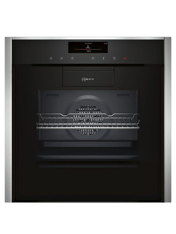 Neff B88VT38N0B Hide and Slide Built In Touch Control Oven Black