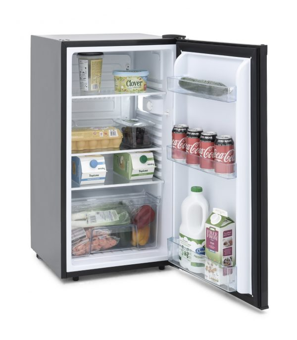 IceKing RL114BK Under Counter Freestanding Larder Fridge in Black