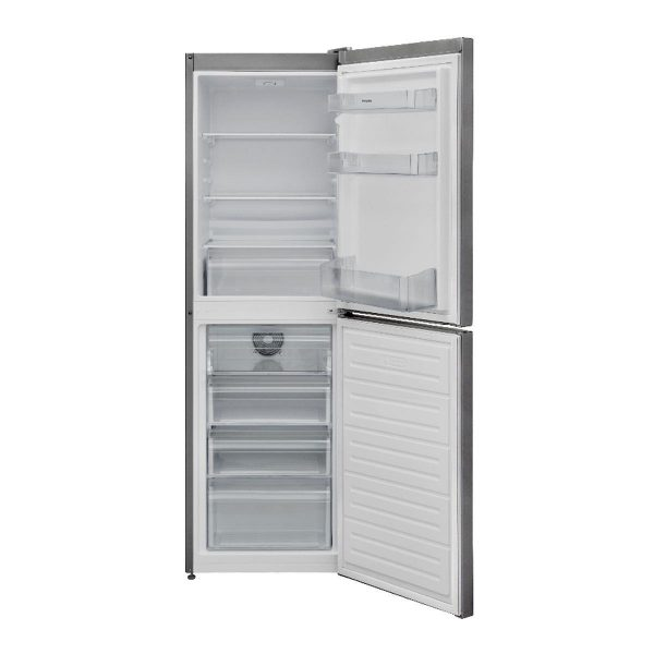 Montpellier Frost Free MFF166S Freestanding Fridge Freezer Silver