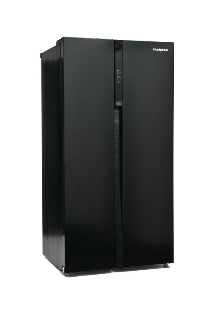 Montpellier M510BK American Style Side By Side Fridge Freezer