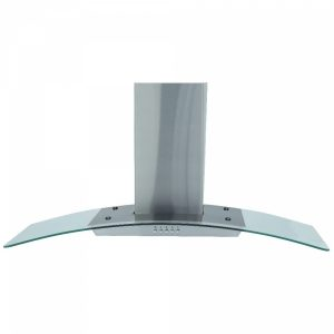 Montpellier MHG900X 90cm Curved Glass Stainless Steel Cooker Hood