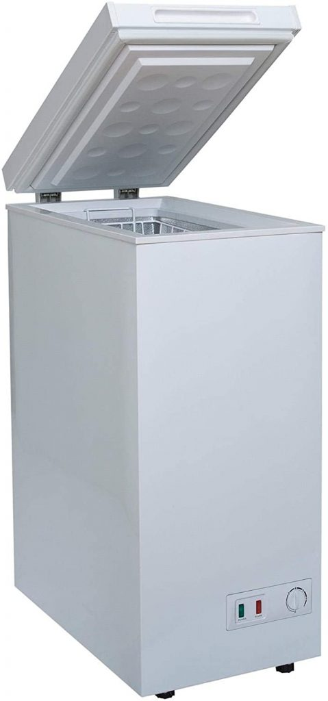IceKing CF61W Chest Freezer In White 52 Litre Capacity A+ Energy