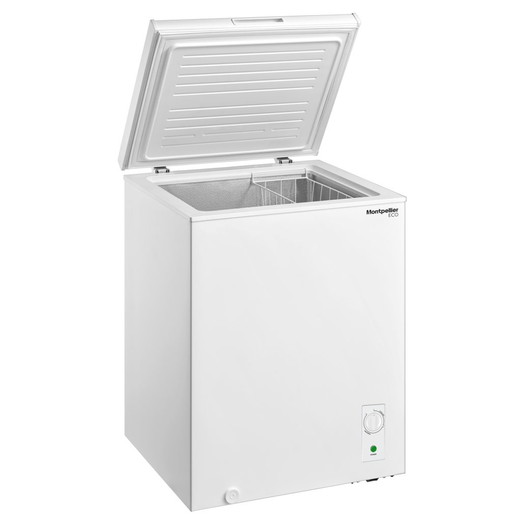 Montpellier MCF99W-ECO | 99 Litre Freestanding Chest Freezer - White | 2 Year Warranty - Suitable for Outbuildings and Garages