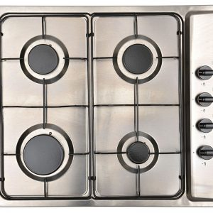 Montpellier MGB60X 58cm Side Control Gas Hob - Stainless Steel