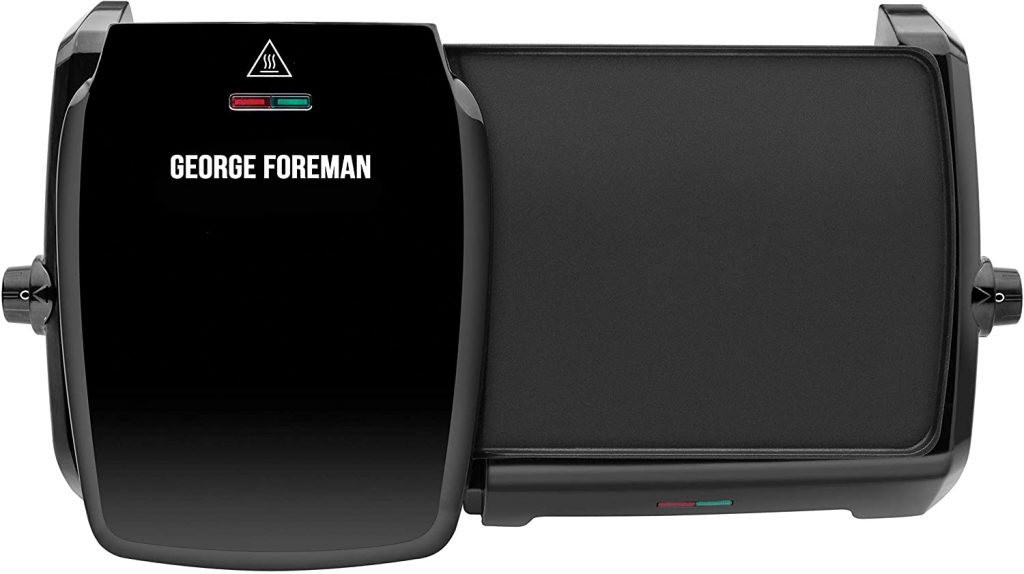 George Foreman 23450 | Variable Temperature Large Grill & Griddle - Black